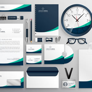 Paquete de diseño corporativo